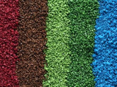 Цветная резиновая крошка.
