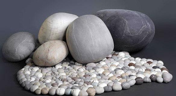 Красивое покрытие полов камнем.