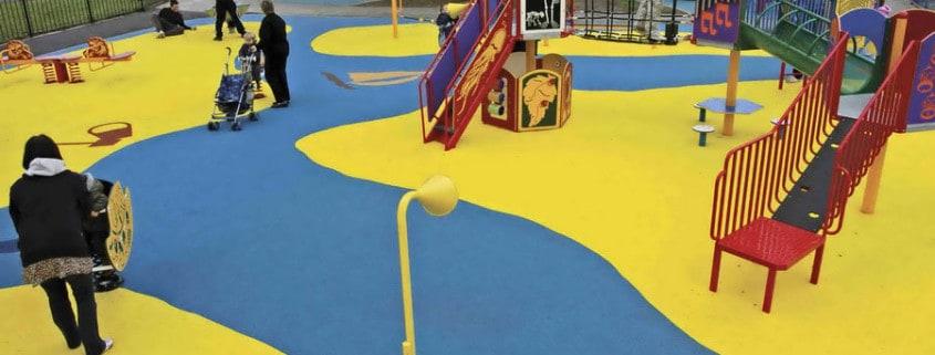 Покрытие для детской игровой площадки.