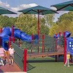 Уличное покрытие для детских площадок