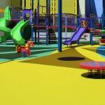 Покрытие игровых площадок из резины