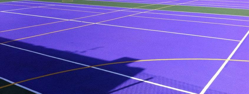 Покрытие спортивной площадки из резиновой крошки.