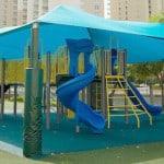 Бесшовное покрытие для детских площадок.