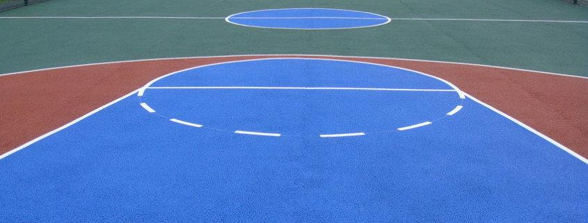 Наливное резиновое спортивное покрытие.